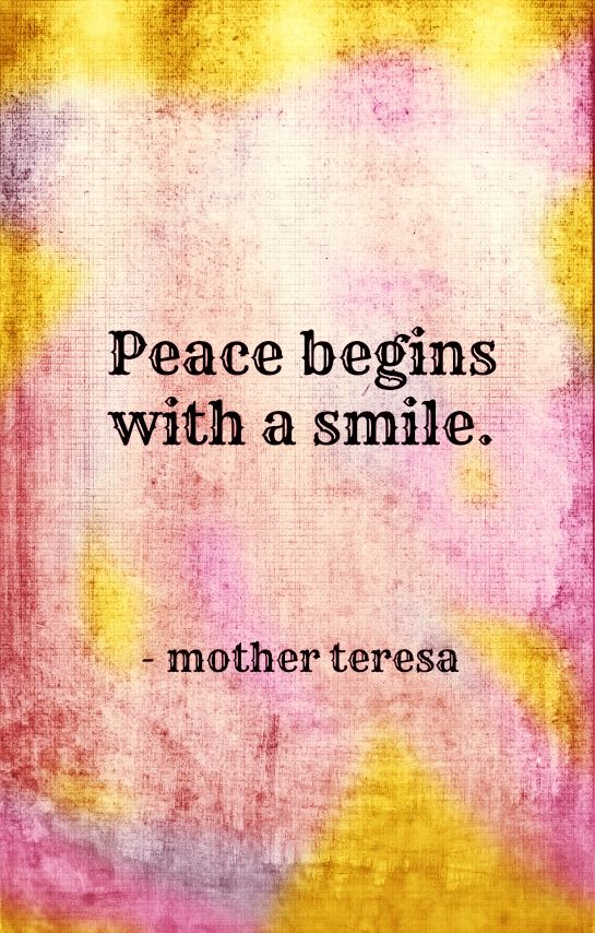 peace mother teresa